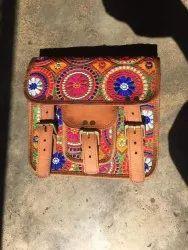 Sling Bag Brown Multi Color Ladies Bags