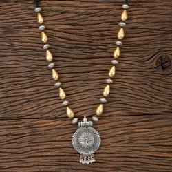Indo Trendy Two Tone Plating Necklace 101240