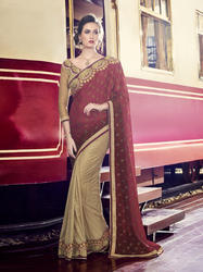 Heavy Embroidery Designer Saree