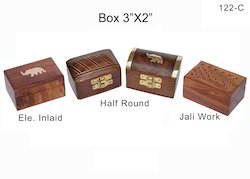 Brown Wooden Handicraft Box, For gifts, Size: 2*3 Inch