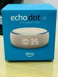 All New Echo Dot With Clock 3rd Gen Smart Speaker With Alexa Black
