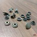 15mm Brass Spring Snap Button Antique