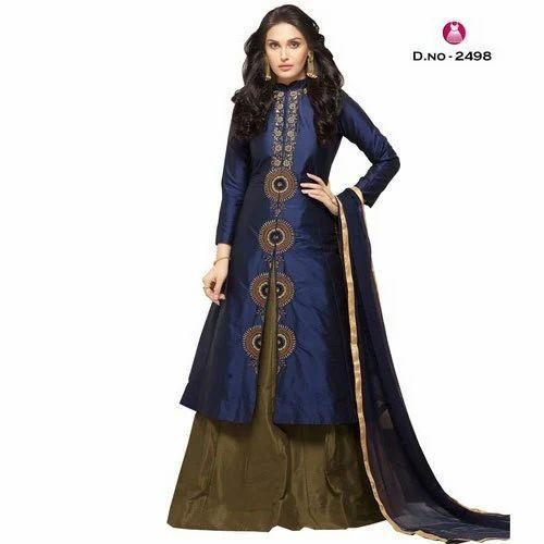 158d6bc8eb9cf Satin Partywear Ladies Fancy Gown, Rs 1500 /piece, Jain Enterprises ...