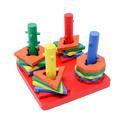 Tootpado Multicolor Wooden Geometric Shape Sorter Puzzle (1tng236)