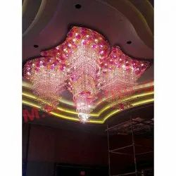 Multi Colour Glass Chandelier