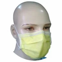 Non Woven Disposable 4 Ply Yellow Ear Loop Elastic Surgical Mask