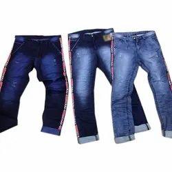 Party Wear Regular Fit Kids Blue Denim Jeans