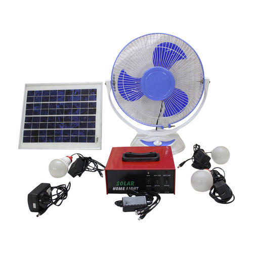 10 W Solar Home Led Lighting System With Fan Warranty 1