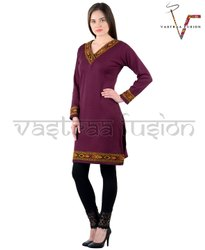 Ladies Regular Wear  Woolen Kurti