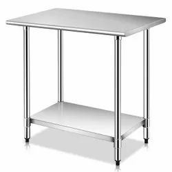 Silver Stainless Steel Kitchen Table