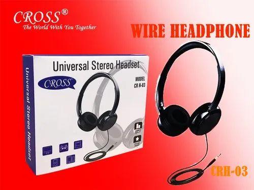 93fda0f5e0c Black Cross CR H-03 Universal Stereo Wired Headphone, Packaging Type: Box