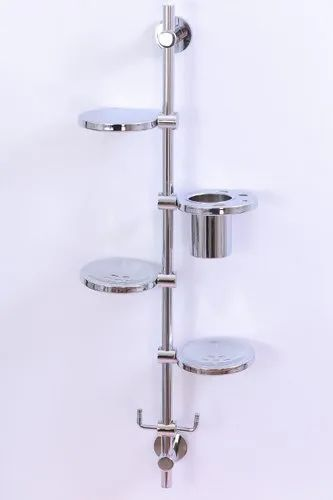 Silver Glossy Eurolux Stainless Steel, Stainless Steel Bathroom