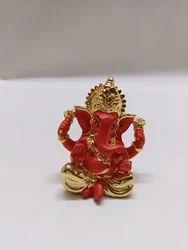 Maroon Seating Ganesha Statue