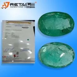 Natural Zambian Emerald with Certified By Gemological Laboratory of India