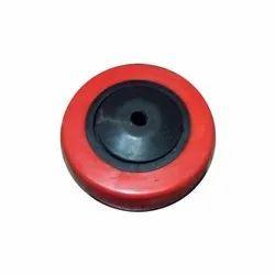 Red PU Caster Wheel