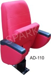 AD110 Auditorium Single Pillar Tip-Up without Push Back Chair