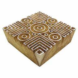 Wooden Textile Print Block