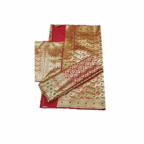 5.5 m (separate blouse piece) Festive Wear Designer Banarasi Silk Saree, With Blouse Piece