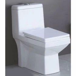White Square One Piece Toilet Seat