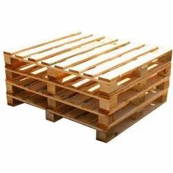 4 Way Fumigated Wooden Pallet, For Shipping, Capacity: 600-700 Kg