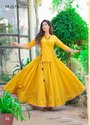 Mustard Presents Pure Cotton Meenakari Jacqured  Crop Top With Skirts And Sharara
