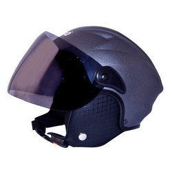 Virgo No. 1 Black LD Cap Virgo Open Face Helmet