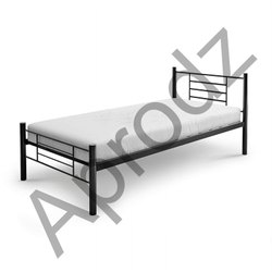 Black Metal bed- Single Size, Without Box, Size: 3ft X 6ft