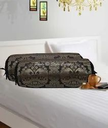 Patterned Bolster Decorative Cylinder Pillow Case