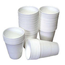 White Striped Disposable Cups