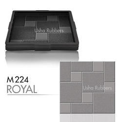 M224 Royal Concrete Floor Tile Rubber Mould