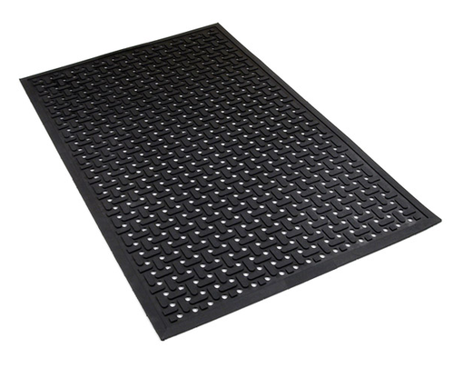 Black Puzzle Commercial Kitchen Rubber Mats