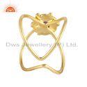 Natural Amethyst Gemstone Gold Plated 925 Silver Designer Rings
