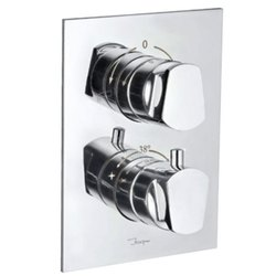 Metal Jaquar Aria 2 Way Concealed Thermostatic Bath and Shower Mixer