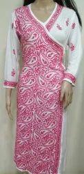 Ladies Cotton Embroidery Kurti