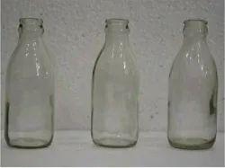 Meral Raund Milk Glass Bottle, For New, Capacity: 300