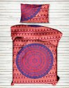 Ombre Mandala Printed Cotton Single Bed Sheet