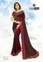Indian Women Maroon Khushi Brasso Saree