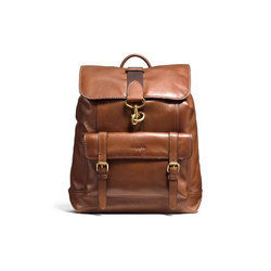 Female Brown Leather Stylish Backpack Bag