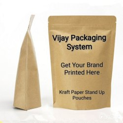 Kraft Paper Stand Up Zipper Pouches