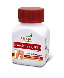Vijay Ayurvedic Sandhi Sanjivan (100% Natural & Vegetarian 60 Capsules) for Joint Wellness