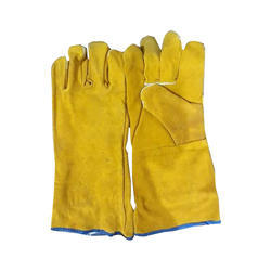 Yellow Canadian Leather Gloves