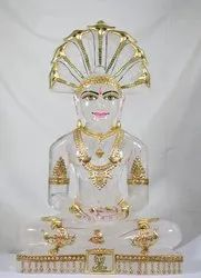 Paraswanath Swami Of Natural Crystal-21 Inch 22kg