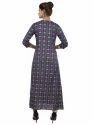 Rayon Blue Color Kurti Dress