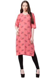 VFLK-42A- Daily Wear Printed Kurti in Jaipuri Print