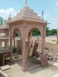 10 Feet Sandstone Outdoor Temple