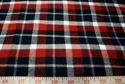 Organic Cotton Flannel Yarn Dyed One Side Brushed Checked Fabric
