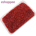 Eshoppee 1kg Red Color Glass Seed Beads 8/0