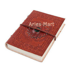 Stone Embossed Leather Diary