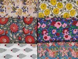 Cotton Hand Block Sanganeri Printed Fabric