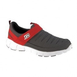 Men D Grey Sports Non Lacing Shoes